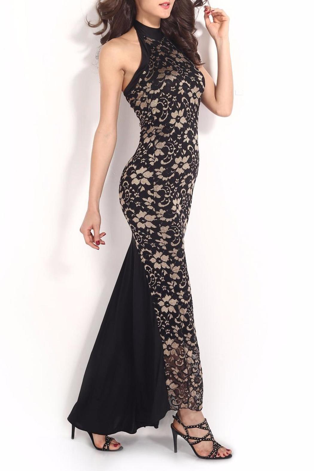 Adore Clothes & More Lace Long Dress - Side Cropped Image
