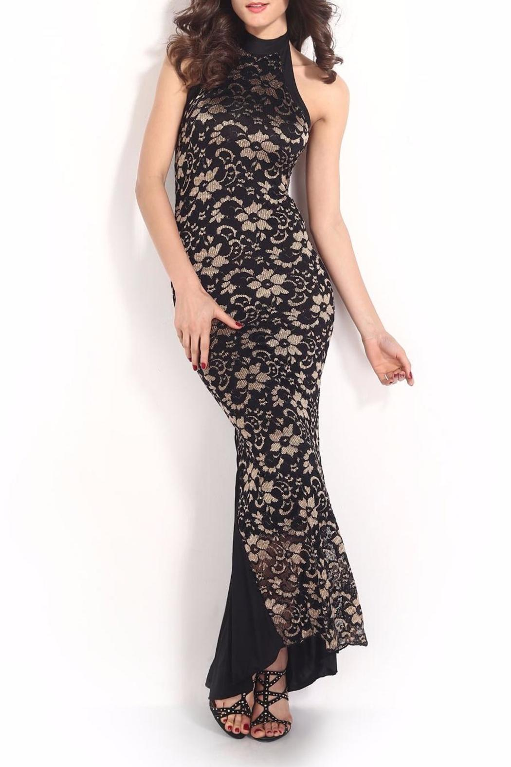 Adore Clothes & More Lace Long Dress - Front Full Image
