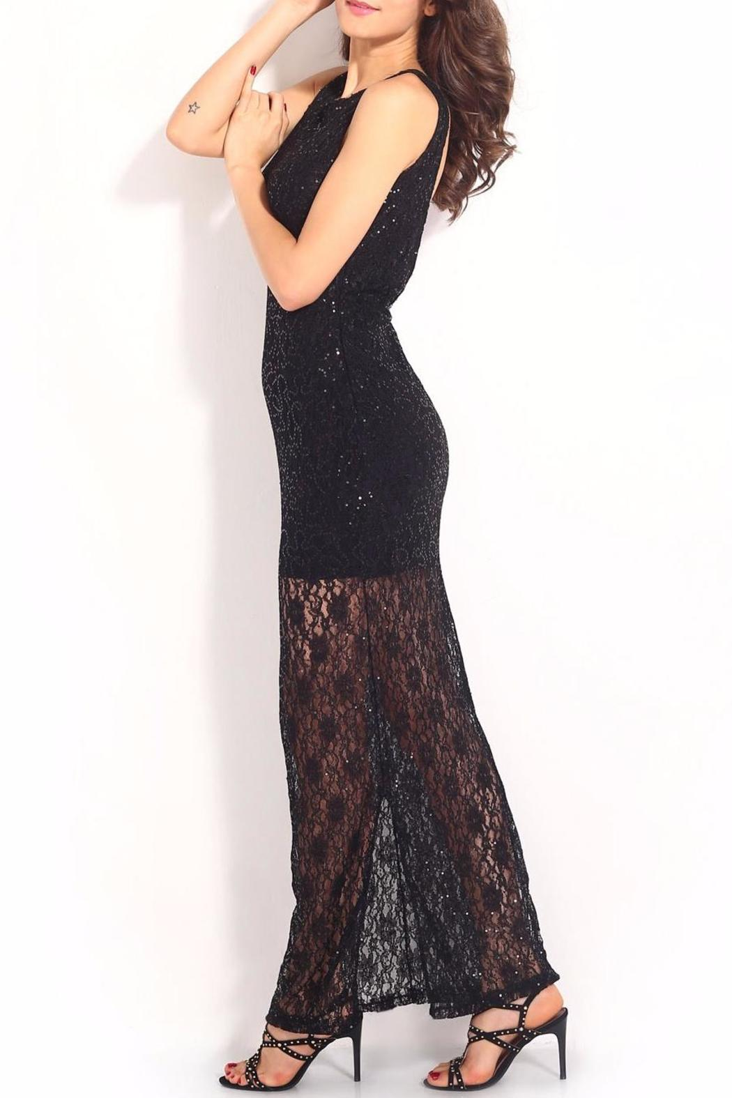 Adore Clothes & More Lace Sequin Dress - Side Cropped Image