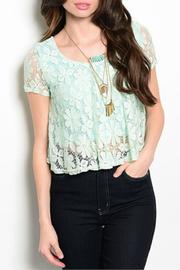 Adore Clothes & More Lined Lace Top - Front cropped