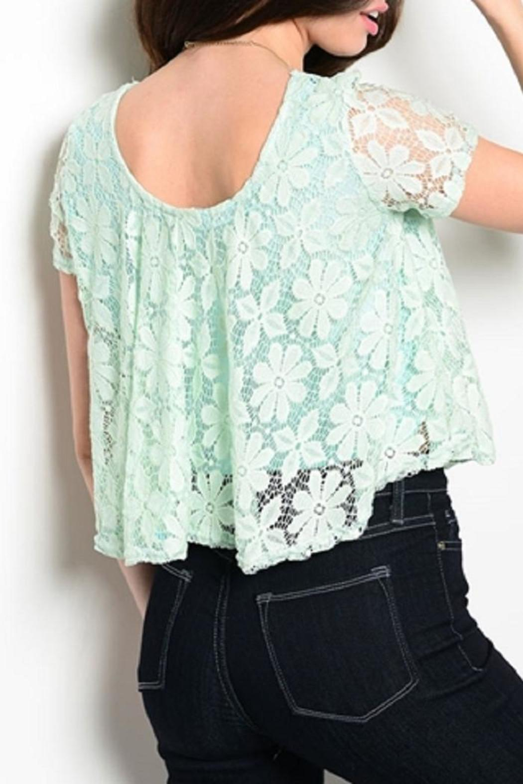 Adore Clothes & More Lined Lace Top - Front Full Image