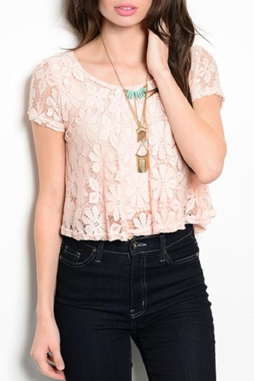 Adore Clothes & More Lined Lace Top - Main Image