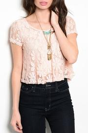 Adore Clothes & More Lined Lace Top - Product Mini Image