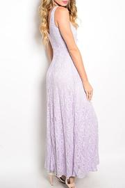 Adore Clothes & More Lavender Lace Dress - Front full body