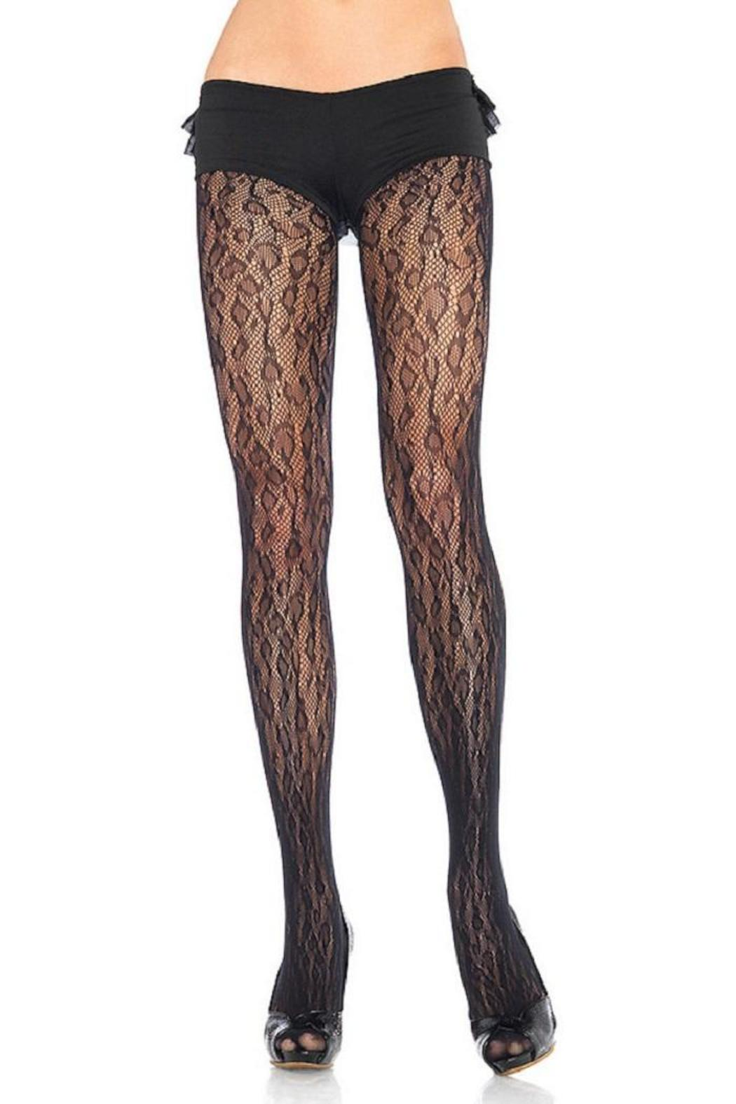 Adore Clothes & More Leopard Print Tights - Main Image