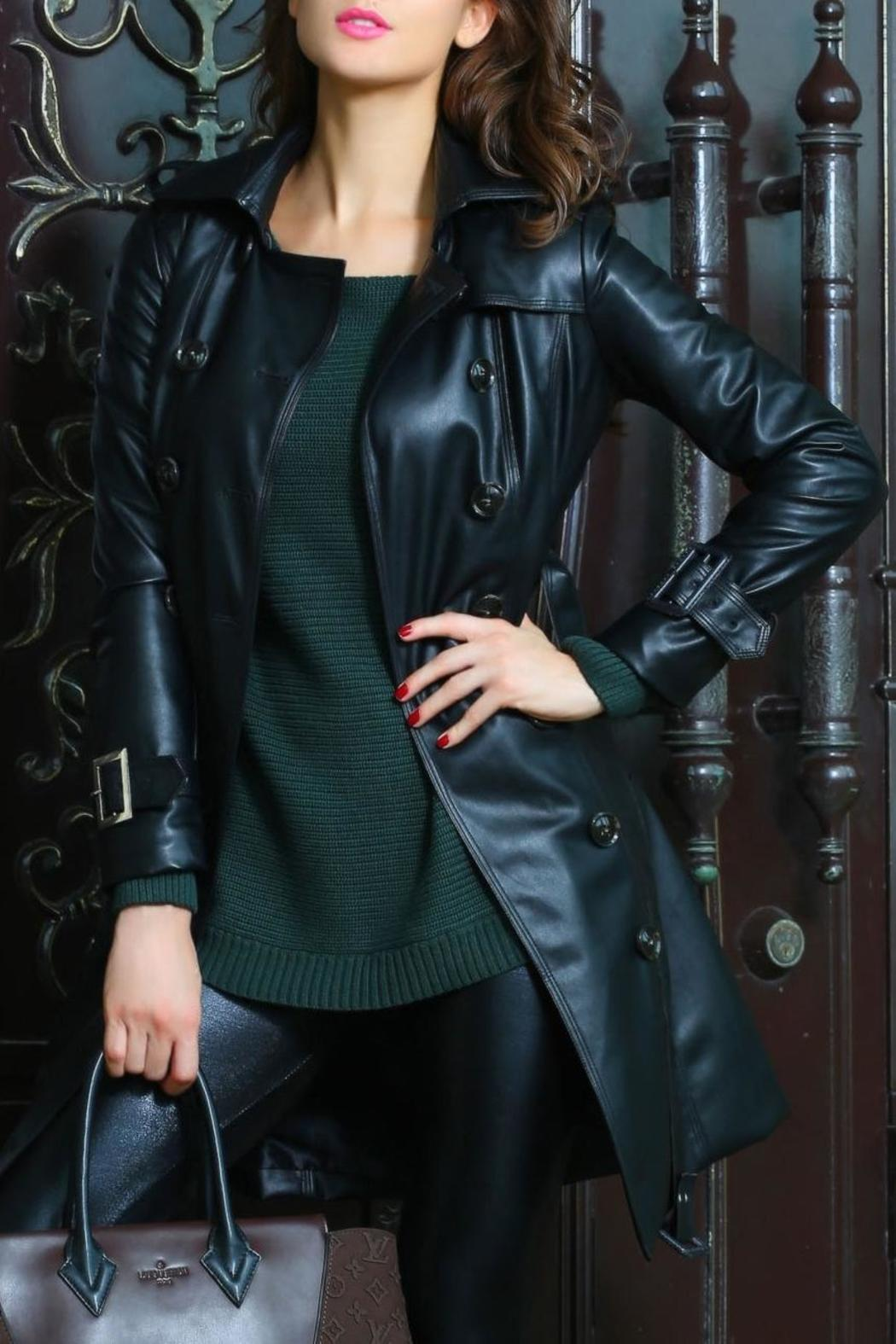 Adore Clothes & More Long Black Jacket - Side Cropped Image