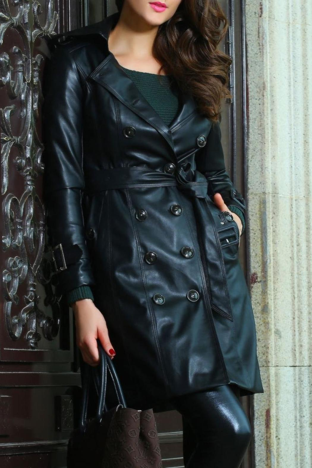 Adore Clothes & More Long Black Jacket - Front Cropped Image