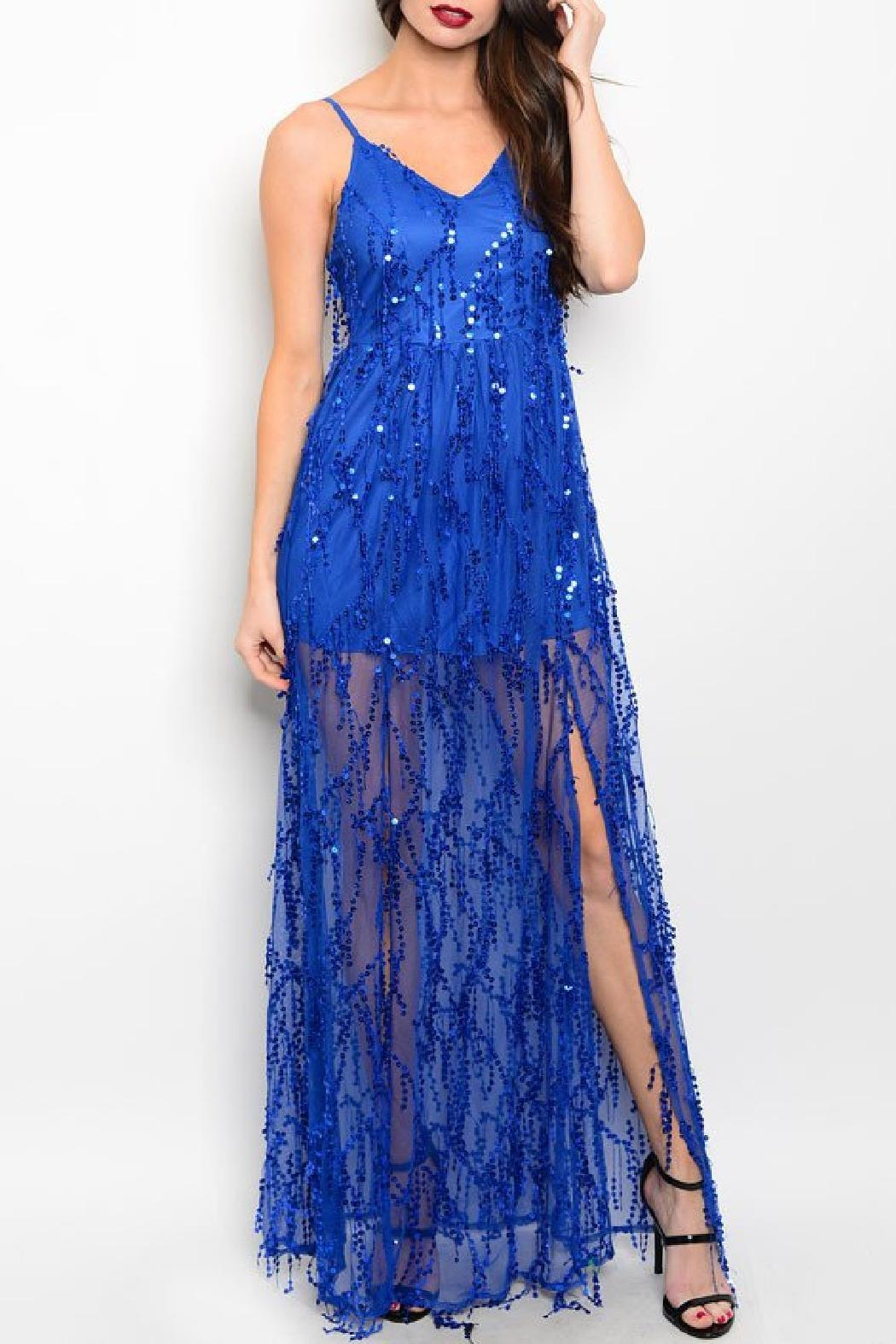 Adore Clothes & More Long Sequin Gown - Main Image