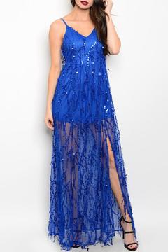 Adore Clothes & More Long Sequin Gown - Product List Image