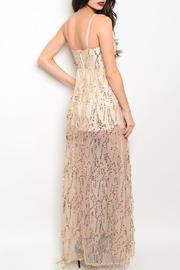 Adore Clothes & More Long Sequin Gown - Front full body