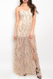 Adore Clothes & More Long Sequin Gown - Front cropped