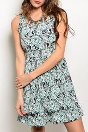 Adore Clothes & More Mint Black Summer Dress - Product Mini Image