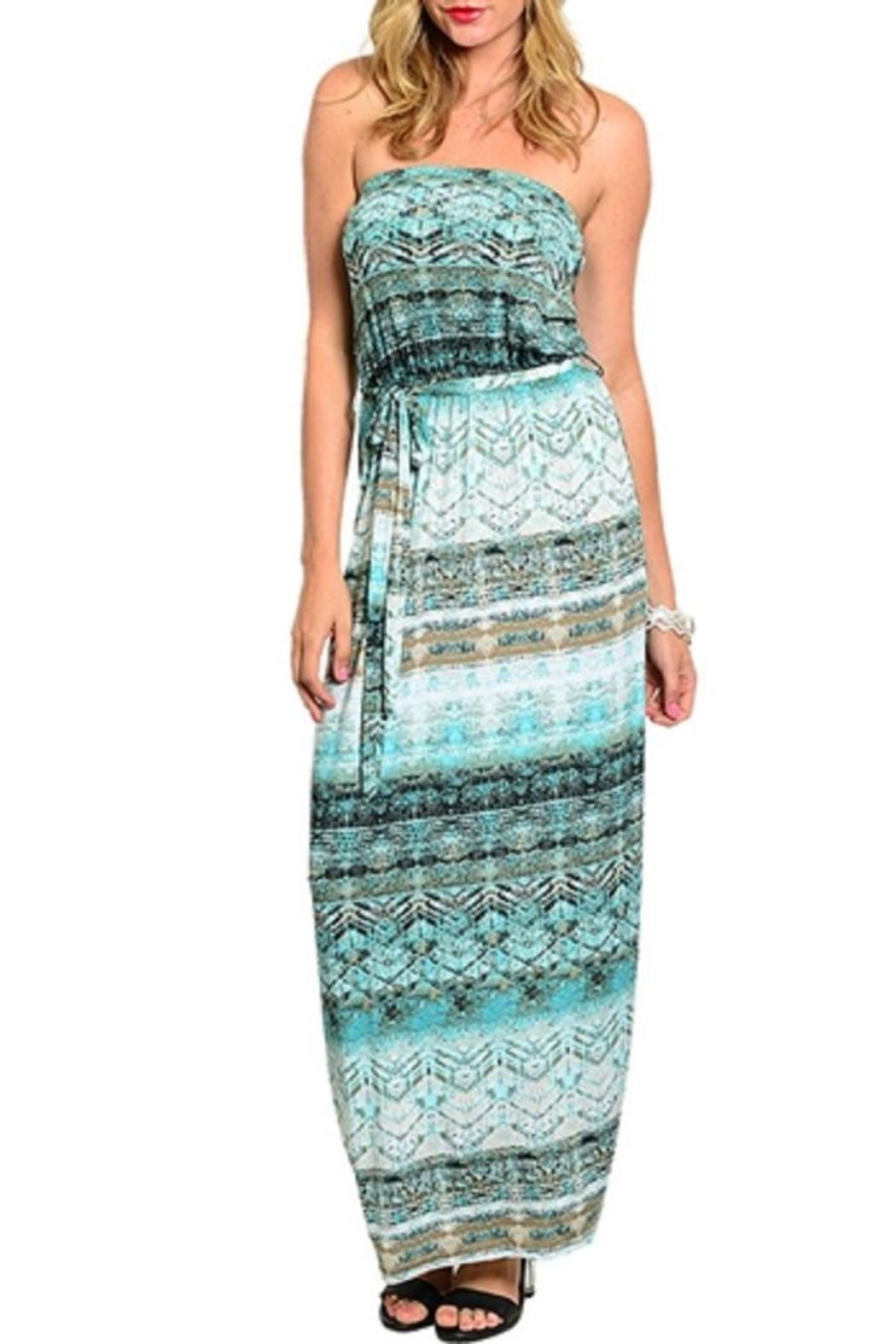 Adore Clothes & More Mint Brown Dress - Main Image
