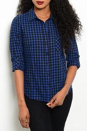 Adore Clothes & More Navy Black Top - Product Mini Image