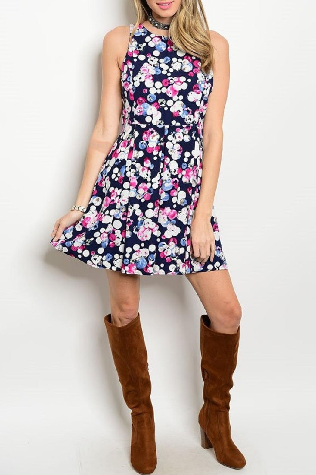 Adore Clothes & More Navy Summer Dress - Main Image