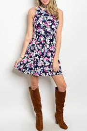 Adore Clothes & More Navy Summer Dress - Product Mini Image