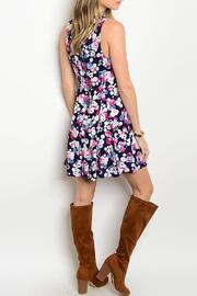 Adore Clothes & More Navy Summer Dress - Front full body