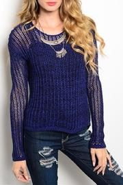Adore Clothes & More Navy Sweater - Product Mini Image