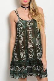 Adore Clothes & More Olive Brown Summer Dress - Front cropped