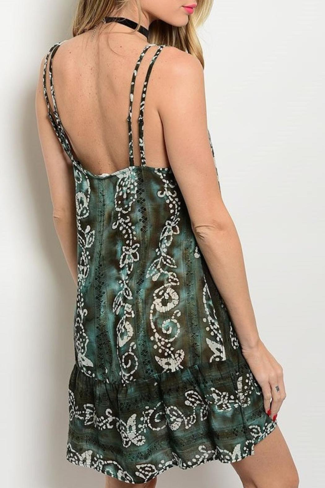 Adore Clothes & More Olive Brown Summer Dress - Front Full Image