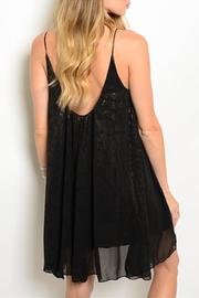 Adore Clothes & More Black Gold Dress - Front full body
