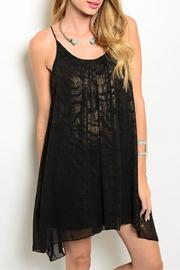 Adore Clothes & More Black Gold Dress - Product Mini Image