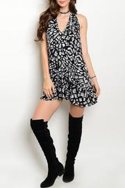 Adore Clothes & More Patterned Halter Dress - Product Mini Image