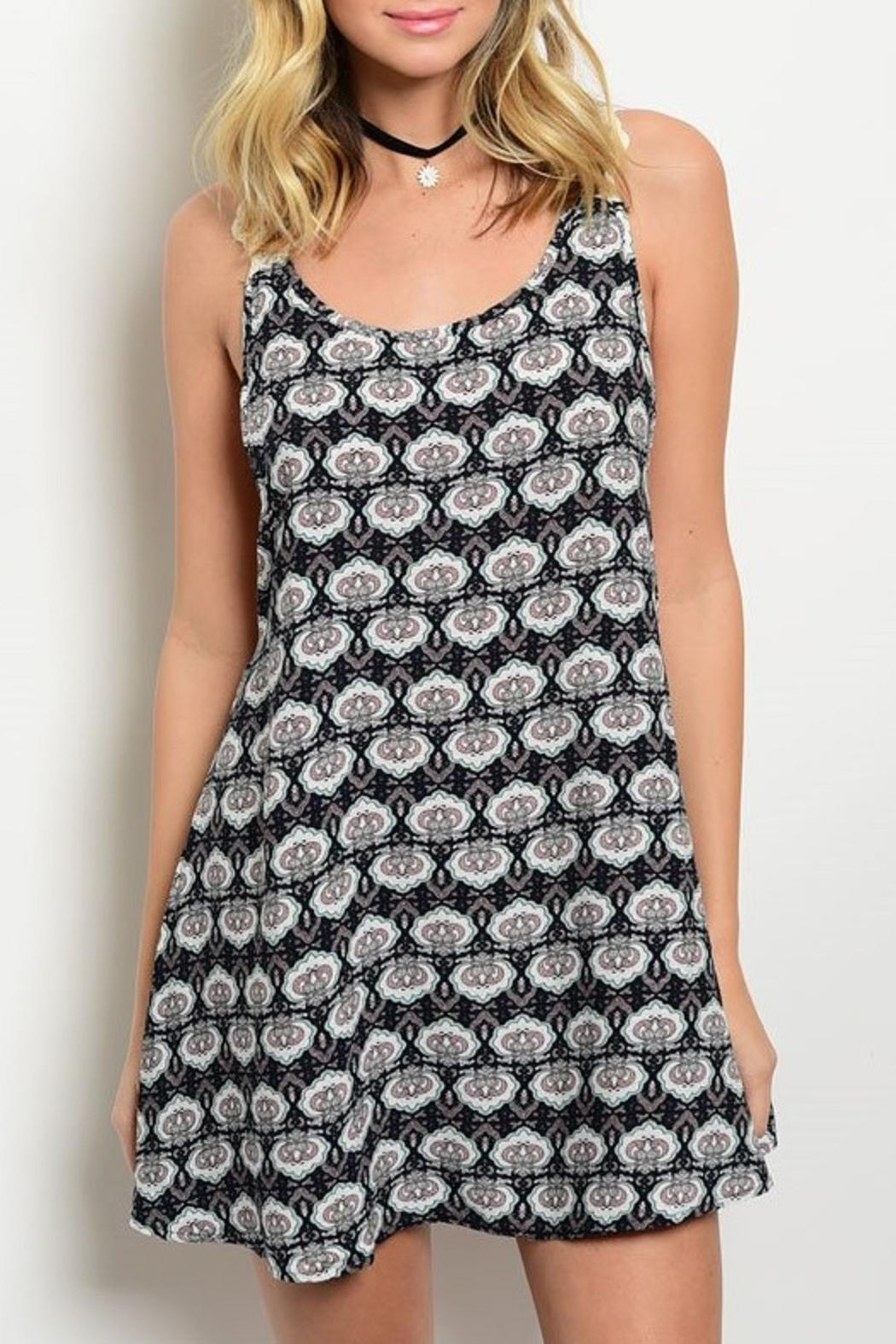 Adore Clothes & More Patterned Summer Dress - Main Image