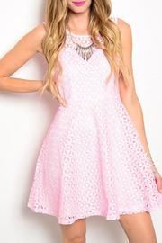 Adore Clothes & More Pink White Dress - Product Mini Image