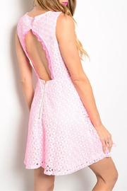 Adore Clothes & More Pink White Dress - Front full body