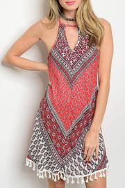 Adore Clothes & More Red/gray Summer Dress - Product Mini Image