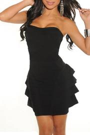 Adore Clothes & More Ruffled Strapless Dress - Front cropped