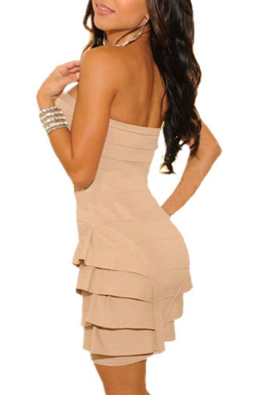 Adore Clothes & More Ruffled Strapless Dress - Front Full Image