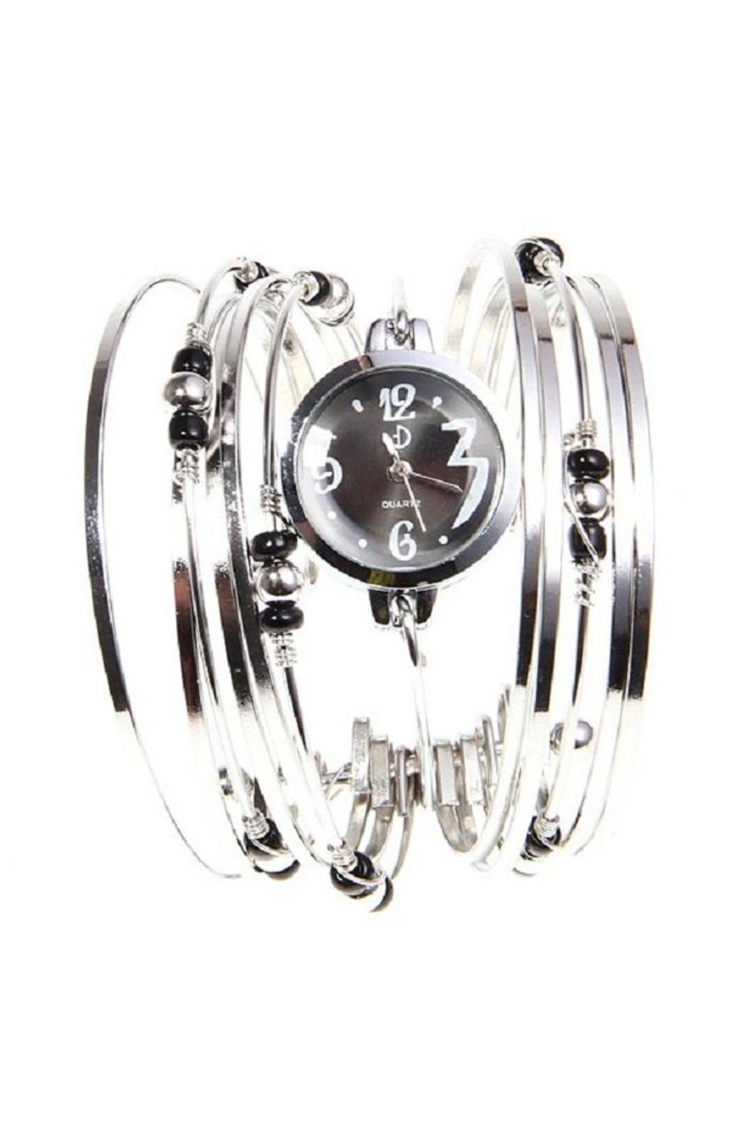 Adore Clothes & More Silver Beaded Watch - Main Image
