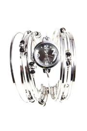Adore Clothes & More Silver Beaded Watch - Product Mini Image