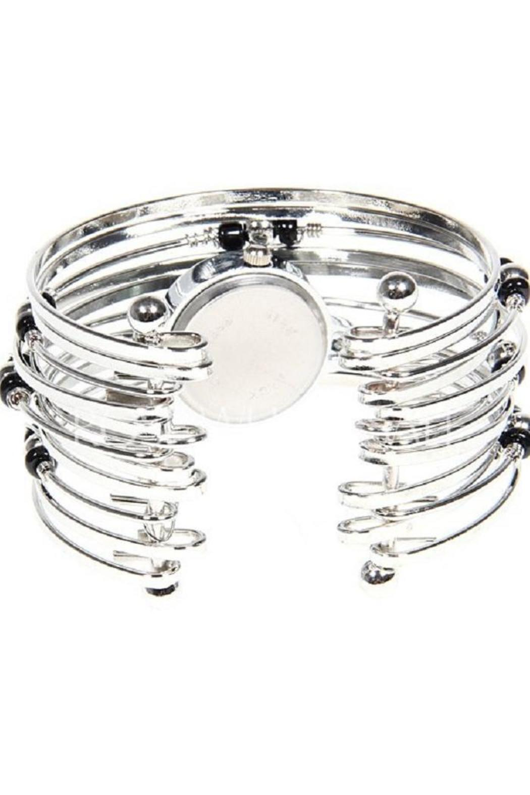 Adore Clothes & More Silver Beaded Watch - Front Full Image