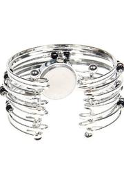 Adore Clothes & More Silver Beaded Watch - Front full body
