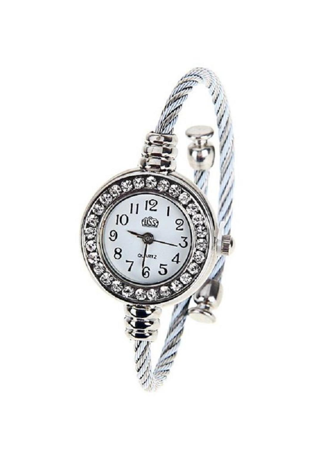 Adore Clothes & More Silver Rhinestone Watch - Main Image