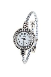Adore Clothes & More Silver Rhinestone Watch - Product Mini Image