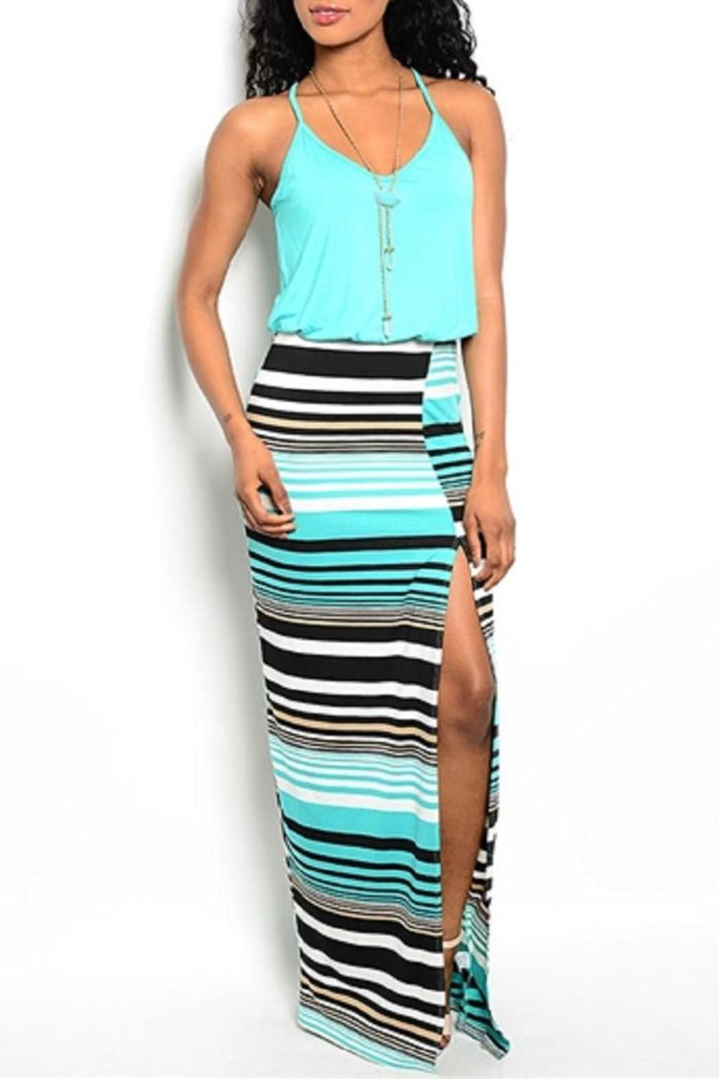 Adore Clothes & More Striped Maxi Dress - Front Cropped Image
