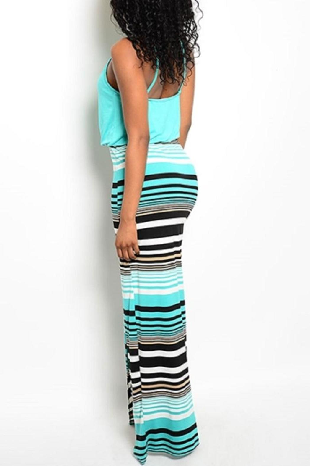 Adore Clothes & More Striped Maxi Dress - Front Full Image