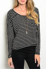 Adore Clothes & More Striped Top - Front cropped