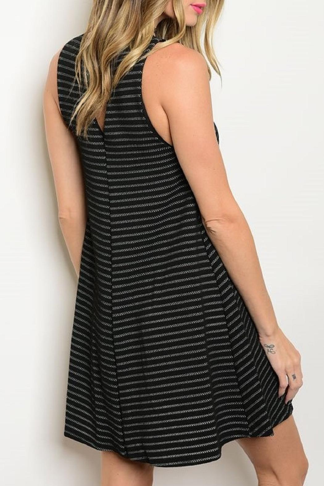 Adore Clothes & More Striped Tunic Dress - Front Full Image