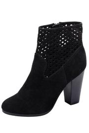 Adore Clothes & More Suede Cutout Booties - Product Mini Image