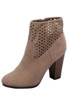 Shoptiques Product: Suede Cutout Booties