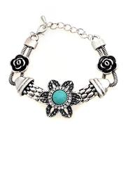Adore Clothes & More Turquoise Flower Bracelet - Product Mini Image