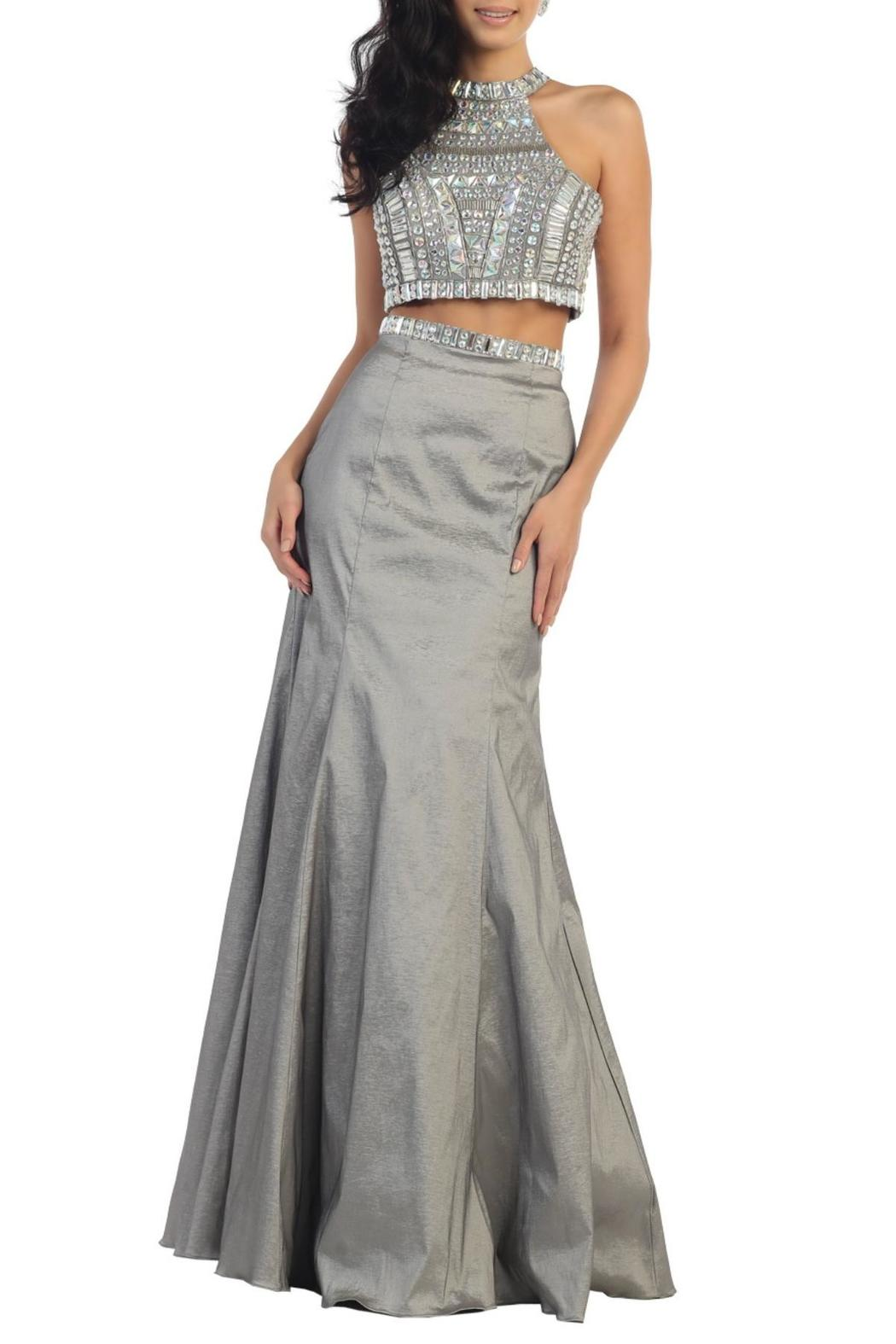 n/a Two Piece Trumpet Dress - Front Cropped Image