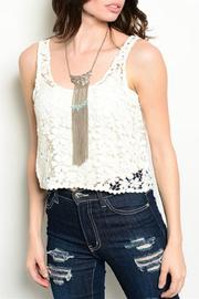 Adore Clothes & More White Crochet Top - Product Mini Image