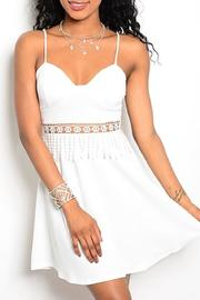 Adore Clothes & More White Fringe Dress - Product Mini Image