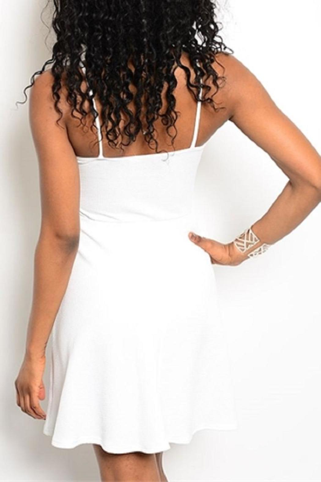Adore Clothes & More White Fringe Dress - Front Full Image